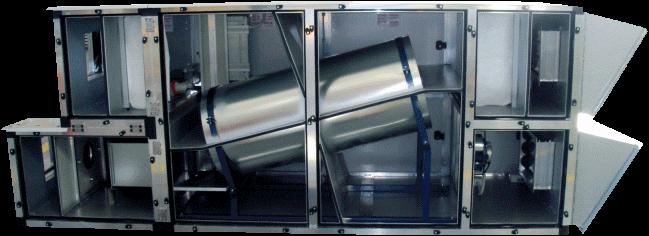 Dobór wymienników spiralno-przeciwprądowych, centrala wentylacyjna wyposażona wc wymiennik