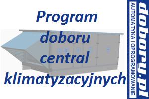 centrale klimatyzacyjne basenowe - program doboru