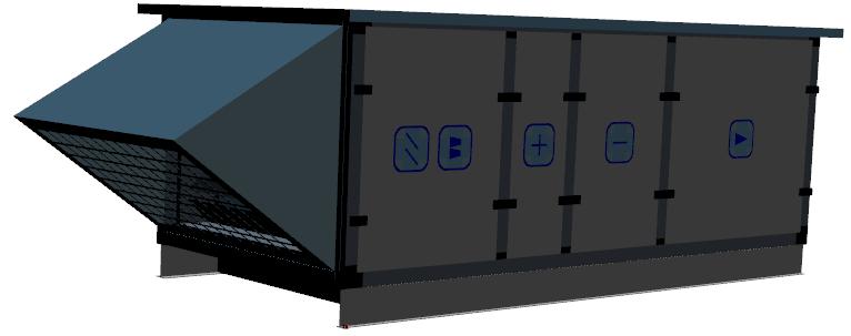 centrala klimatyzacyjna dachowa projekt 3D