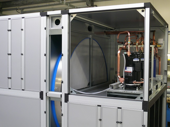 Pompa ciepła powietrze-powietrze, program doboru, centrala firmy Dan-Poltherm