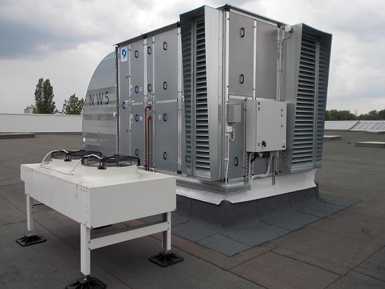 Centrale dachowe - centrala klimatyzacyjna w wykonaniu zewnętrznym firmy Ciecholewski Wentylacje