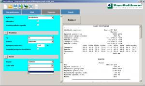 Program doboru tłumików halasu - okno wyboru konfiguracji tłumika