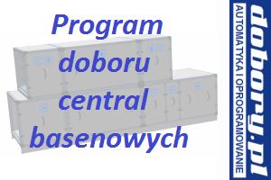 centrale klimatyzacyjne basenowe - projektowanie w programie doboru