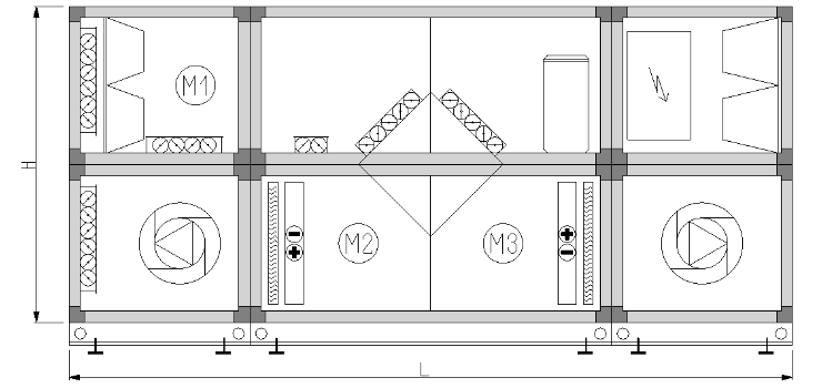 centrala klimatyzacyjna basenowa z powietrzną pompą ciepła