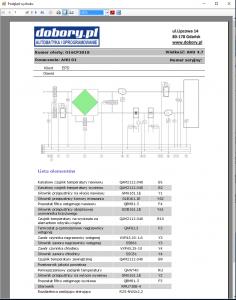 projektowanie automatyki wentylacji - wydruk schematu oraz listy komponentów