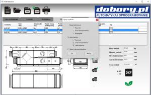 projektowanie automatyki wentylacji - wybór opcji wydruku